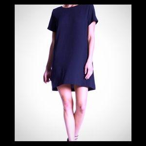 LUSH Women's Navy Blue Mini Swing Dress